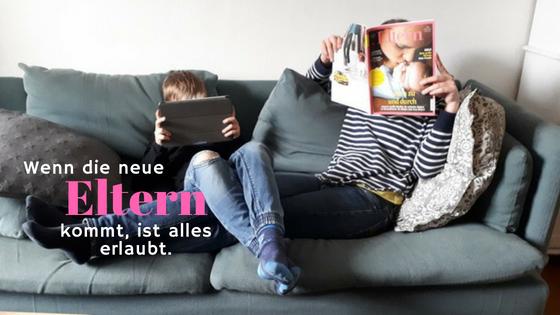 """Werbung / Die """"Eltern"""" im neuen Outfit"""